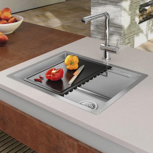Nerezový dřez Sinks BOXSTEP 450 RO 1,0mm + VERSUS RDBSK4504501RO