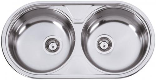 Nerezový dřez Sinks DUETO 847 V 0,6mm leštěný RDDUL8474446V
