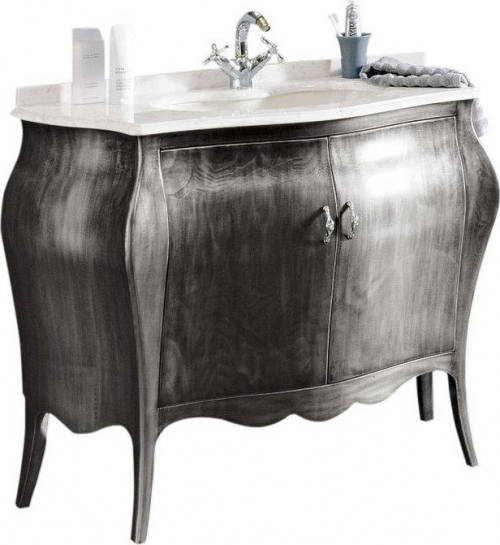 Gallo Wood ISOTTA ARG 105-S skříňka s umyvadlem, š. 107cm, mramor Bianco Carrara, argento IA-105