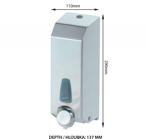 Sapho MARPLAST dávkovač pěnového mýdla 1000ml, nerez lesk A80600A