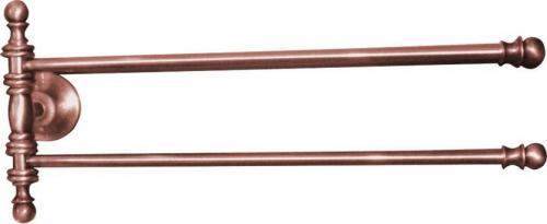 Sapho PERLA otočný držák ručníků dvojitý 390 mm, růžové zlato PE0177