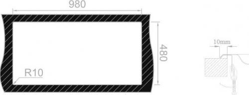 Nerezový dřez Sinks OKIOPLUS 1000 V 0,7mm leštěný RDOPL1005007V