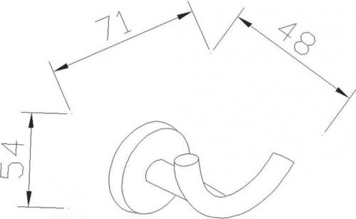 Aqualine SAMBA dvojháček, chrom SB123