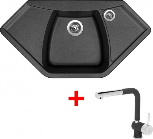 Granitový dřez Sinks NAIKY 980 Metalblack+MIX 3P GR TLN980MI3P74