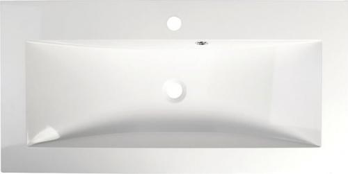 Sapho YUKON umyvadlo 90x45cm, litý mramor, bílá 55900
