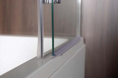 Polysan RENDE vanová zástěna 970mm, čiré sklo BS-97