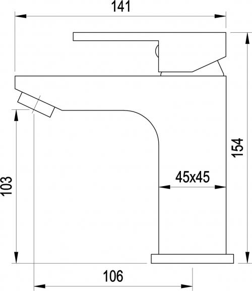 Aqualine CANTINO stojánková umyvadlová baterie bez výpusti, chrom 1126-02