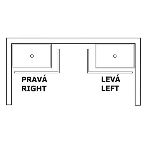 Gelco SARA panel čelní 100x90 cm, výška 10 cm, levý GP10090L