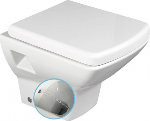 Aqualine SOLUZIONE závěsná WC mísa s bidet. sprškou, 35x50, 5cm, bílá 10SZ02002 DL