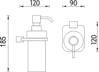Nimco Kibo  Dávkovač tekutého mýdla Ki X3-31W-26
