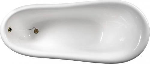 Polysan RETRO volně stojící vana 158x73x72cm, nohy bílé, černá/bílá 72971