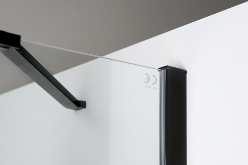 Polysan ZOOM LINE BLACK boční stěna 800mm, čiré sklo ZL3280B
