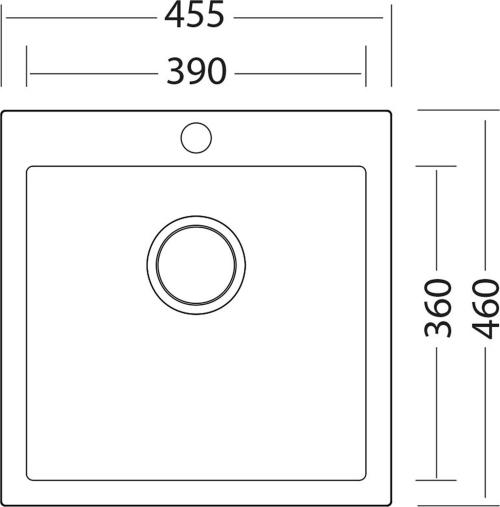 Granitový dřez Sinks VIVA 455 Granblack SIGVI45546030