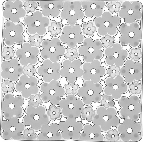 Aqualine MARGHERITA podložka do sprchového koutu 51, 5x51, 5cm s protiskluzem, PVC, čirá 975151P2