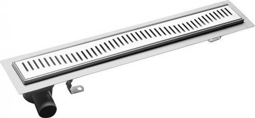 Aqualine VENTO nerezový sprchový kanálek s roštem, 760x140x85 mm 2708-80