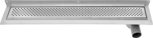 Aqualine KROKUS nerezový sprchový kanálek s roštem, ke zdi, 860x122x85 mm 2715-90