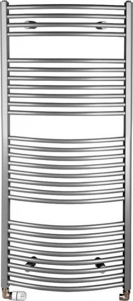 Aqualine ORBIT otopné těleso s bočním připojením 600x1330 mm, 708 W, metalická stříbrná ILA36