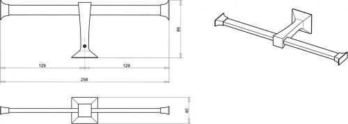 IBB FIRENZE držák toaletního papíru dvojitý, chrom FI11D