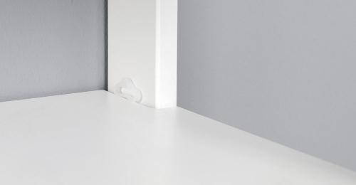 Aqualine ETIDE policový regál vysoký 36x152x36 cm, bílá mat ET156