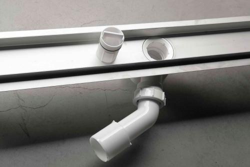 Aqualine BUCANERA nerezový sprchový kanálek s roštem, 900x110x90 mm NO3190