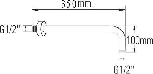 Sapho Sprchové ramínko 350mm, růžové zlato BR357