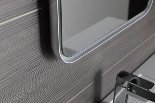Sapho FLOAT zaoblené LED podsvícené zrcadlo v rámu 500x700mm, bílá 22571