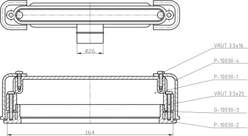 Sapho CUT vanová souprava, přepadová štěrbina 170x24mm a click clack zátka, chrom PC1089