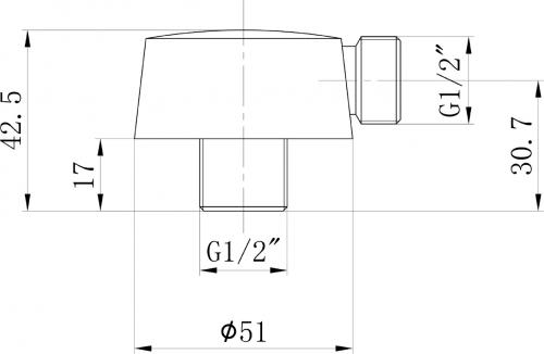 Sapho Vývod sprchy, průměr 50mm, růžové zlato 9817