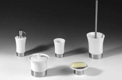 Sapho JUSTY WC štětka na postavení, keramika/nerez 1308-28