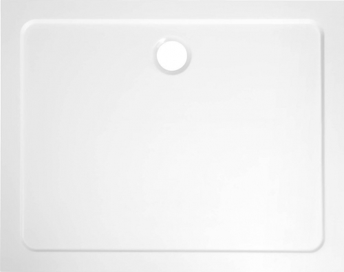Aqualine TECMI sprchová vanička z litého mramoru, 100x70x3 cm PQ10070