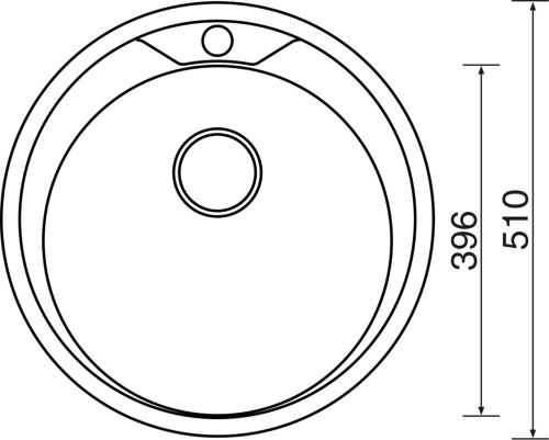 Nerezový dřez Sinks ROUND 510 V 0,6mm matný STSROM5106V
