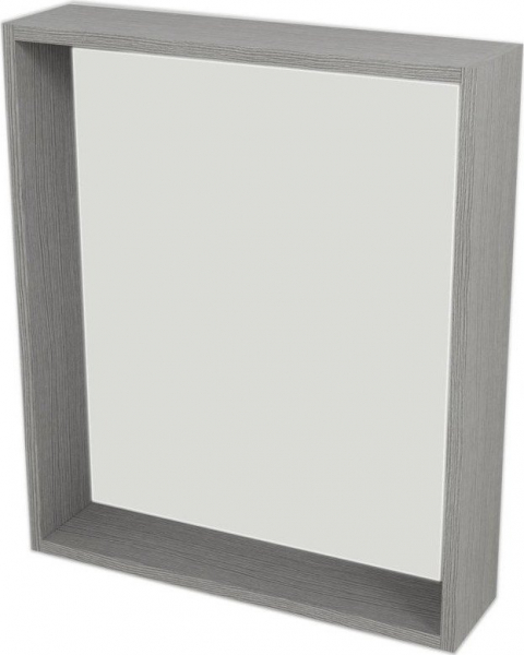 Sapho RIWA zrcadlo s LED osvětlením, 60x70x15 cm, dub stříbrný RW601