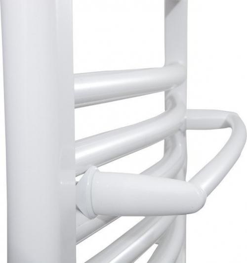 Aqualine Sušák ručníků na otopná tělesa 43 cm oblý, bílá IDO-50
