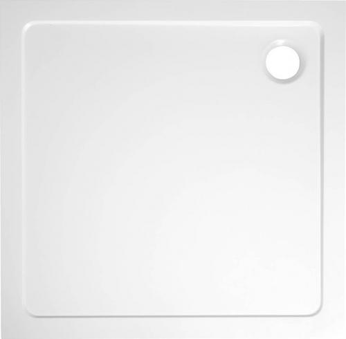 Aqualine TECMI sprchová vanička z litého mramoru, čtverec 80x80x3 cm PQ008
