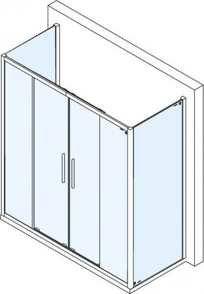 Polysan Lucis Line třístěnný sprchový kout 1500x800x800mm DL4215DL3315DL3315