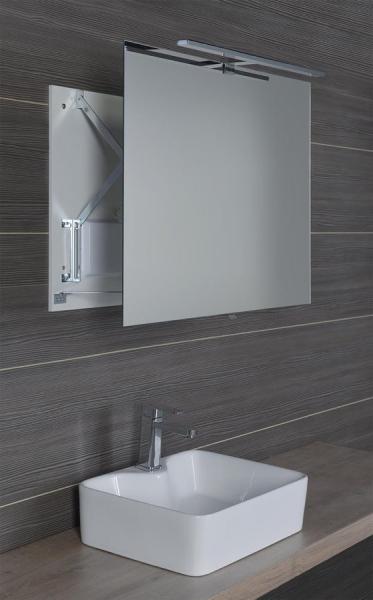 Sapho TIRA výsuvné zrcadlo s LED osvětlením 8W 800x600x54-356mm TR080