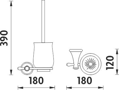 Nimco Lada staromosaz Toaletní WC kartáč LA 19094K-65