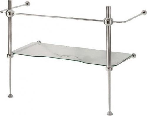 Kerasan WALDORF konstrukce pro umyvadlo 100cm se skleněnou poličkou, chrom 9196K1