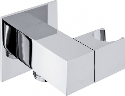 Sapho Držák sprchy hranatý, otočný, s vyústěním, chrom SG301