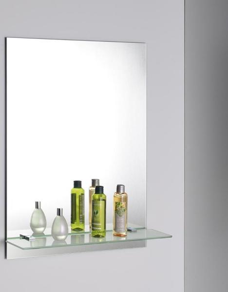 Aqualine Zrcadlo 50x70cm, včetně závěsů, s otvory pro polici 22429
