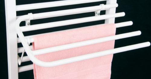 Aqualine Sušák 4 ručníků na otopná tělesa s rovnými trubkami IL/EL, bílá 25-01-SV450