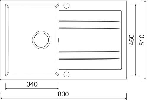 Granitový dřez Sinks GRANDE 800 Granblack SIGGR80051030