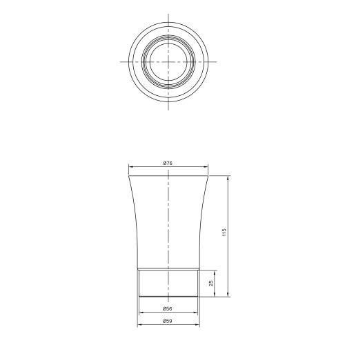 Sapho JUSTY sklenka na postavení, keramika/nerez 1308-33