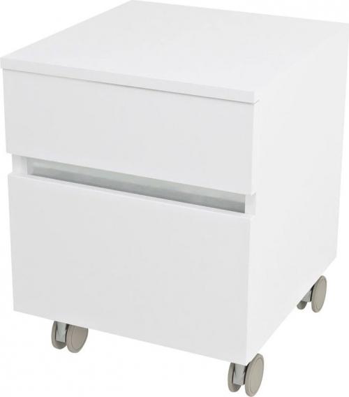 Sapho AVICE kontejner na kolečkách, 2x zásuvka 45x57x48, 5cm, bílá AV063