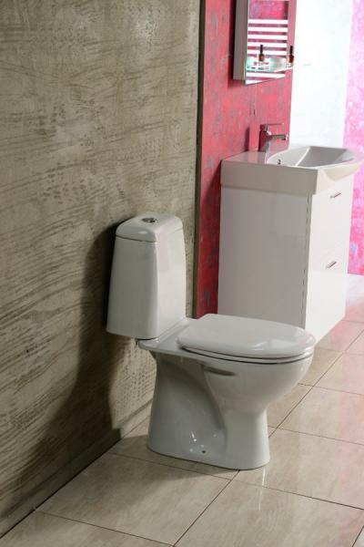 Aqualine RIGA WC kombi, dvojtlačítko 3/6l, spodní odpad, bílá RG801