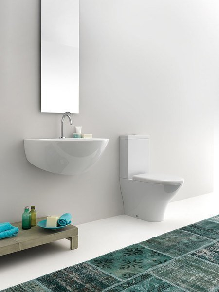 Kerasan AQUATECH WC kombi, spodní/zadní odpad, bílá WCSET10-AQUATECH