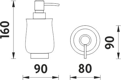 Nimco Lada stojánková Dávkovač tekutého mýdla, pumpička plast 1031LA-26