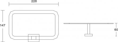 Aqualine APOLLO držák ručníků, chrom 1416-06