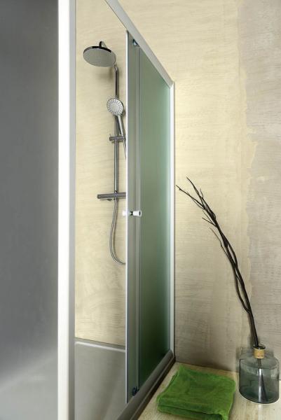 Aqualine AMADEO posuvné sprchové dveře 1100 mm, sklo BRICK BTS110