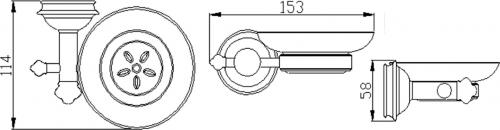 Sapho ASTOR mýdlenka, bronz 1326-02